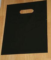 "100 12"" x 15"" Black GLOSSY Low-Density Plastic Merchandise Bags"