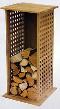 Brennholzregal, Kaminholzregal, Brennstoffregal aus geöltem Walnussholz