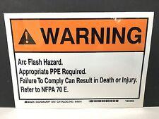 """""""Arc Flash Hazard""""  ( 5 )  Arc Flash Safety Warning Label 5x7 Vinyl Sticker"""