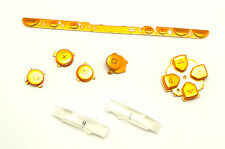 Tastatur Tasten Button Pad Set Blau für Sony PSP 1000 1004 Classic Fat Gold