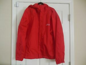 GRUNDENS RAIN JACKET Shell size XL RED Hooded Mens Womens