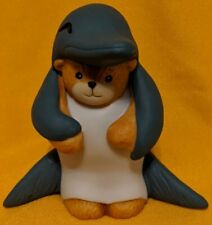 Porcelain Lucy Rigg & Me Teddy Bear Dressed As A Dolphin Figurine 1992 Rare! Htf