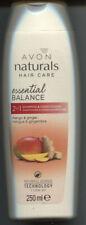 (100ml=2,20€) Avon - Naturals 2-in-1 Shampoo + Spülung Mango & Ingwer