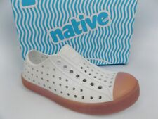 Native Kids Shoes Jefferson Slip On Shoe Toddler Kid's SZ 12 C,  White 16034
