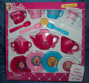Barbie Dinnerware Set, Tea Party Set, Dinner, Play Pretend, Brand New