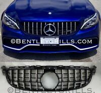 MERCEDES W205 C CLASS AMG 63 GRILLE PANAMERICANA GT GRILL C63 ONLY BLACK/CHROME