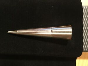 Dunhill Stainless Steel Conical Ballpoint Desk Pen - Made In England - Brand New