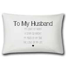 My Husband Love Of My Life Pillow Case - Wedding Anniversary Gift - Christmas