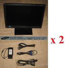 """Lot de 2 écrans SAMSUNG SyncMaster SA450 48,3 cm(19""""),1440x900 60Hz LS19A450"""