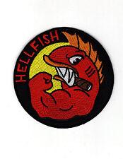 Simpson Hellfish Logo Patch 3 1/2 inch