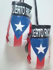PUERTO RICO RICAN FLAG MINI BOXING GLOVES ORNAMENT TREE CAR MIRROR DECORATION