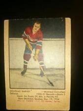 1951-52 PARKHURST DOUGLAS HARVEY ROOKIE CARD # 10 PARKIE Montreal Canadians