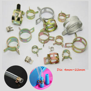 4mm~22mm Dia Spring Hose Clips Clamps Fuel Line Water Pipe Tube Cllip 10/20/50X