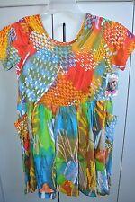 Jams World Girlz Large Colorful Flashback Shortsleeve Dress/NWT