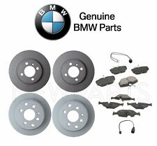 BMW E30 3-Series Set of Front and Rear Brake Disc Rotors with Pads & Sensors OES