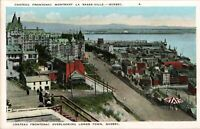 Chateau Frontenac & Lower Town  Quebec Canada Vintage postcard *Free Shipping*
