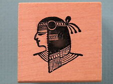 Egyptian Head, Small Profile STAMPLAND Rubber Stamp