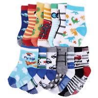 14 paires anti-dérapant chaussettes pr tout-petits bébé enfants 1-3 ans coton PB