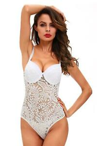 Sexy Push up Lace Teddy White Sexy Push up NEW Stretch Lace Cheeky NWT SZ S-L