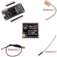 1/4Pcs 433MHz LoRa32u4 Development Board Atmega32u4 LoRa Ra02 Module Antenna