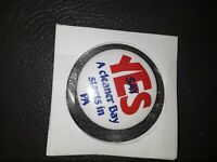 Vintage SAY YES A CLEANER BAY STARTS IN PA Pennsylvania Pin Pinback Button RARE!