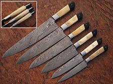 CUSTOM MADE DAMASCUS BLADE KITCHEN KNIFE SET DC- 1071-BH