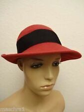 60 he * Elegant Ladies Hat from Prague * Tomak * Red * 56