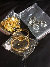 BRAND NEW - BRACELET AND RING BASES - GOLD / SILVER - JEWELLERY MAKING