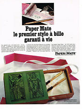 PUBLICITE ADVERTISING 025  1967  PAPER MATE  coffret stylo bille