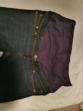 H&M Mama maternity Size 12/EUR 40 over bump skinny jeans - Dark blue