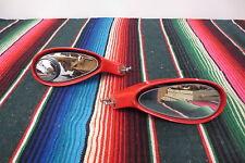PAIR Universal Custom Sports Car Racing Hot Rod Euro Mirrors Fiber Glass