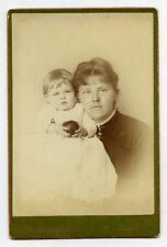 Lady with Child Cabinet Card Photo Sandusky Ohio J.G. Brittingham