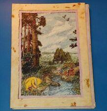 Vtg Disney Winnie The Pooh Stationary Sheets Envelopes In Folder Set