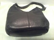 THE SAK LEATHER WOMAN  SHOULDER BAG COLOR BLACK 4 POCKETS & ID HOLDER