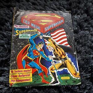 "DER NEUE SUPERMAN 1988 Heft 3, Ehapa Comic mit FILM-POSTER ""Superman IV""."