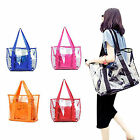 Fashion Women Jelly Candy Clear Transparent Handbag Tote Shoulder Bags Beach Bag