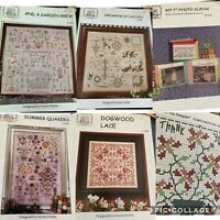 Rosewood Manor Lot Of 6 Cross Stitch Charts Garden Daisies Summer Quakers +