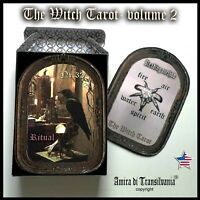 witch tarot card cards deck guide book major arcana wicca oracle rare vintage 2