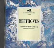 CD album: Beethoven: Symphonies N°1 & 2. Blackside. Scholz. DDD. W