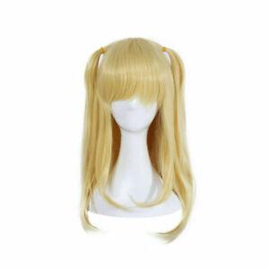 Misa Amane Cosplay Wig Women Blonde Long Straight Bangs Anime Hair Full Wigs