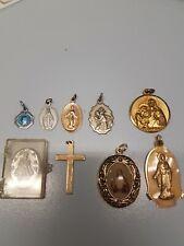 Vintage Catholic Saints Charms Pendants