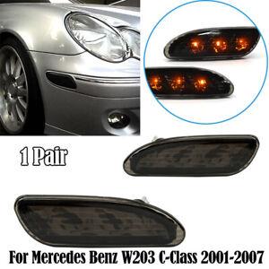 Front Bumper Side Marker Corner Lights Lamp For Mercedes Benz C230 C240 C280