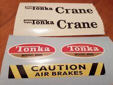Replacement Decals for #2940 Mighty Crane Tonka Truck - Waterproof Vinyl