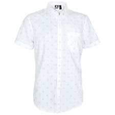 Overwatch Repeated Logo Women's White Cotton Button Up Shirt Blizzard Official