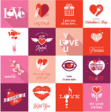 Reminisce Forever Hearts 12x12 Sticker Sheet scrapbooking Love Valentine