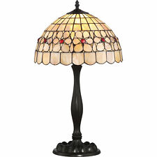 Quoizel Sea Shell Collection Floret 22-inch Tiffany Table Lamp Bronze Ssft6221Vb