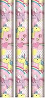 3 Unicorn Gift Wrap Roll Wrapping Paper Cute 2m Luxury Xmas Wedding Kids Party