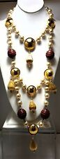 Vintage Signed  Yves St. Laurent YSL Runway Couture Necklace France Rive Gauche