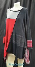 Style & Co. woman Color Blocked sweater long tunic TOP shark bite knit Size 0X