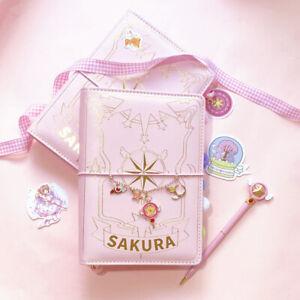 Anime Card Captor Sakura The Clow Hardcover Magic Book Notebook Girls Gift Pink